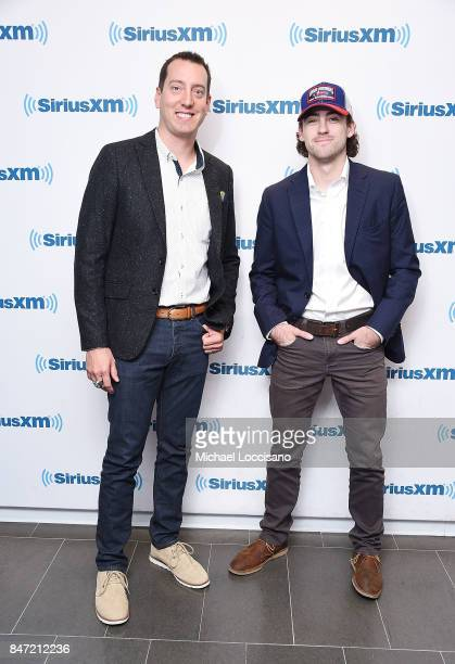 Professional NASCAR drivers Kyle Busch and Ryan Blaney visit SiriusXM Studios on September 14 2017 in New York City