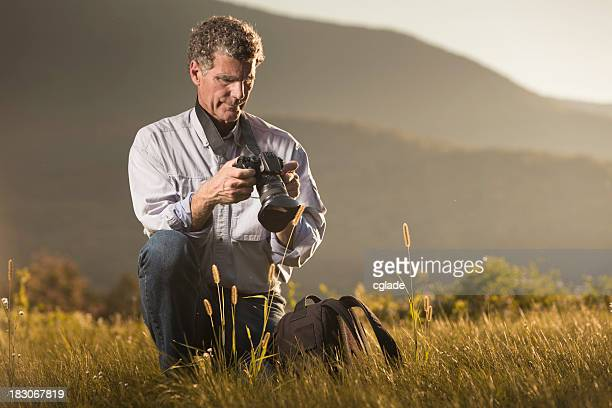 Professional Nature Photographer in mountains