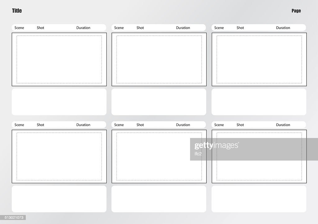 Professional Of Film Storyboard Template Stock Photo  Getty Images