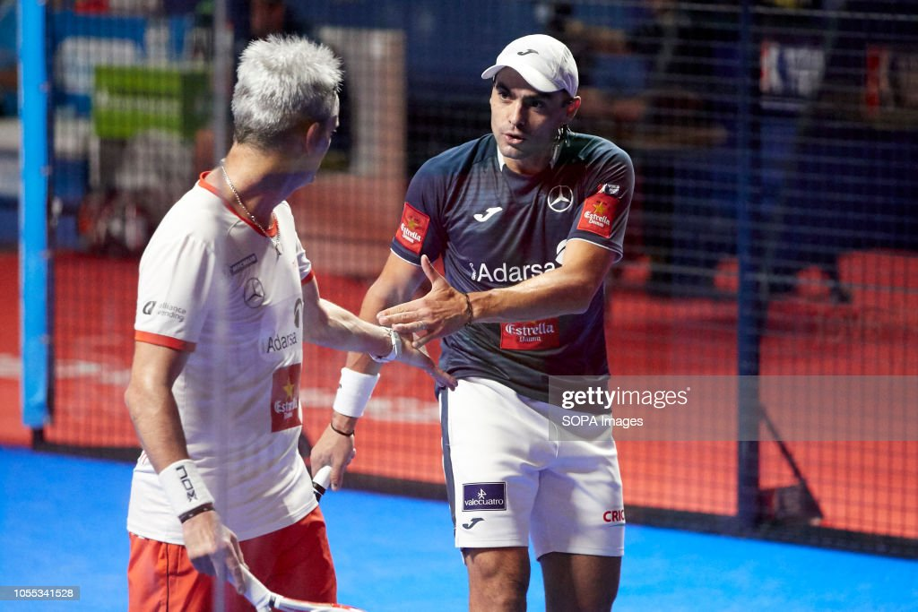 Professional Paddle Players Miguel Lamperti And Juan Mieres Seen
