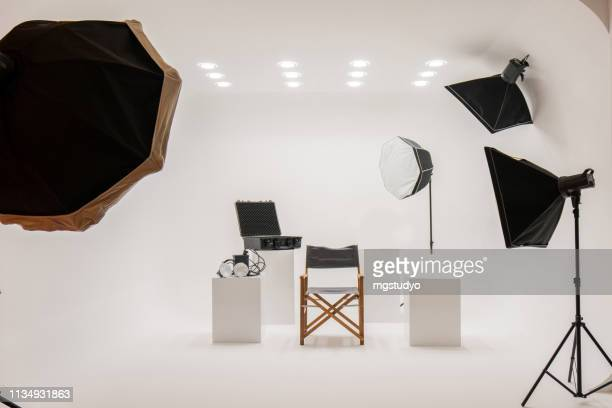 professional photo studio - stage set stock pictures, royalty-free photos & images