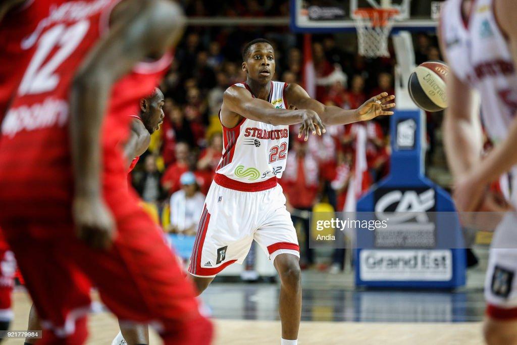 French basketball player Frank Ntilikina. : News Photo