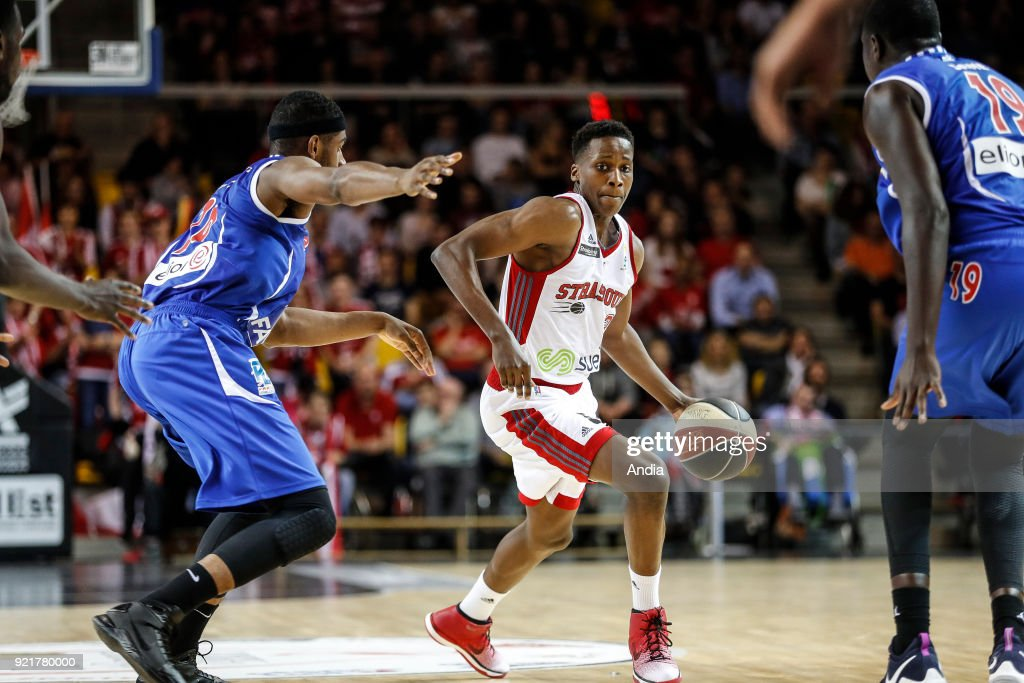 French basketball player Frank Ntilikina. : News Photo