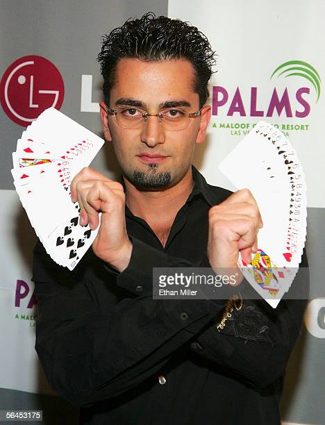 Professional poker player Antonio 'The Magician' Esfandiari arrives at the LG AllStar Poker Showdown and Party at the Palms Casino Resort December 18...
