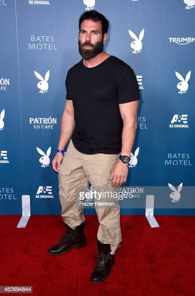 Professional poker player Dan Bilzerian attends Playboy and AE Bates Motel Event during ComicCon International 2014 on July 25 2014 in San Diego...
