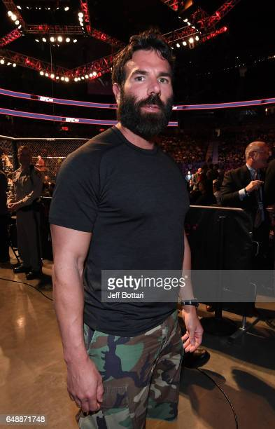 Professional poker player Dan Bilzerian attends the UFC 209 event at TMobile arena on March 4 2017 in Las Vegas Nevada