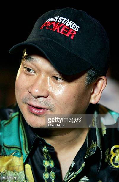 Professional poker player Johnny Chan appears at the inaugural Vince Neil Off the Strip Texas Hold 'Em Poker Tournament at the Hard Rock Hotel Casino...