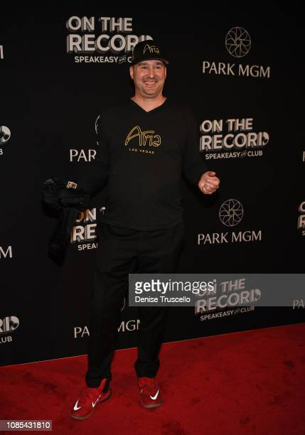 Professional poker player Phil Hellmuth arrives at the grand opening celebration of On The Record Speakeasy and Club at Park MGM on January 19 2019...