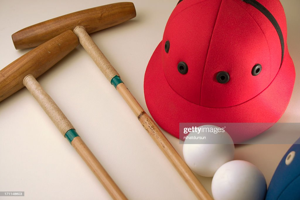 Professional polo equipment : Stock Photo