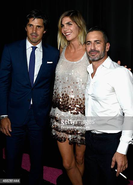 Professional polo player Nacho Figueras his wife Delfina Blaquier and designer Marc Jacobs attend the Marc Jacobs fashion show during MercedesBenz...