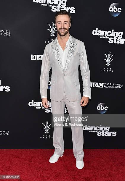 Professional race car driver James Hinchcliffe attends ABC's Dancing With The Stars Season 23 Finale at The Grove on November 22 2016 in Los Angeles...