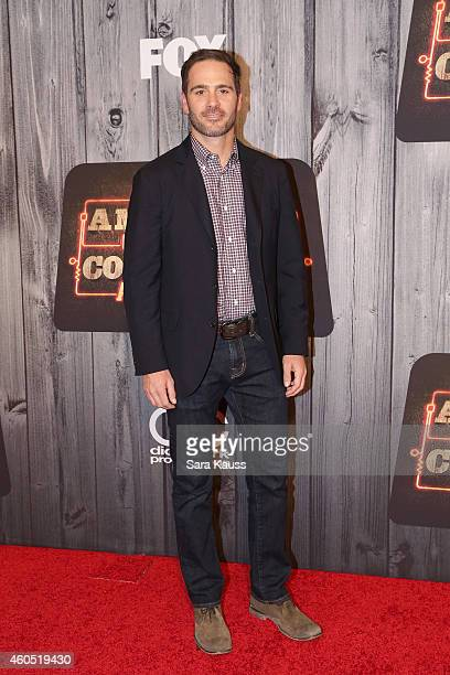 Professional race car driver Jimmie Johnson attends the 2014 American Country Countdown Awards at Music City Center on December 15 2014 in Nashville...