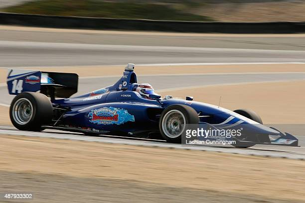 Professional race car driver Max Chilton breaks Tony Kaanan's 1997 track record and takes pole position for upcoming race at the Indy Lights...