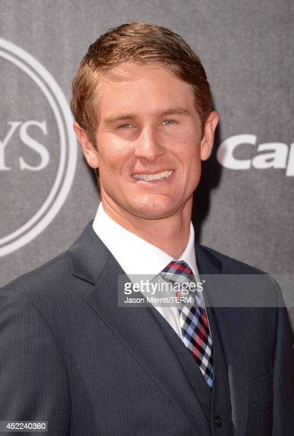 Professional race car driver Ryan HunterReay attends The 2014 ESPYS at Nokia Theatre LA Live on July 16 2014 in Los Angeles California