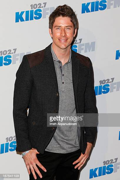 Professional racecar driver Arie Luyendyk Jr attends KIIS FM's 2012 Jingle Ball at Nokia Theatre LA Live on December 3 2012 in Los Angeles California
