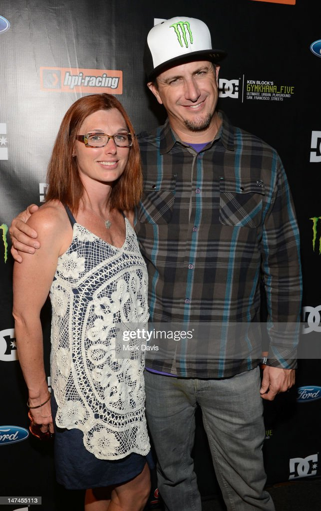 Professional rally driver Ken Block (R) and wife Lucy attend the premiere Of The Gymkhana FIVE held at the JW Marriot Mixing room at L.A. Live on June 29, 2012 in Los Angeles, California.