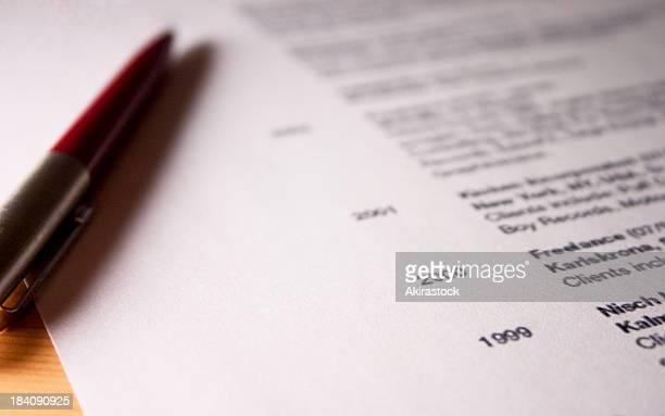 CV professionnel-Image contrastée