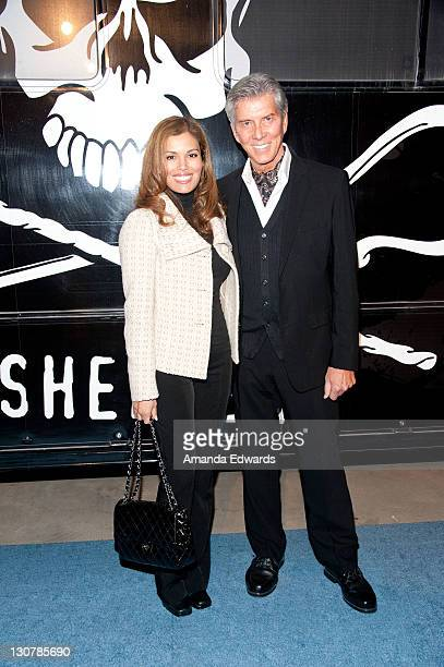 Professional ring announcer Michael Buffer and his wife Christine arrive at the Sea Shepherd's 8th Antarctic Whale Defense Campaign domestic launch...