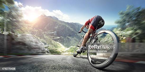 professional road cyclist - endurance stock photos and pictures