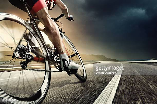 professional road cyclist - sports race stock pictures, royalty-free photos & images