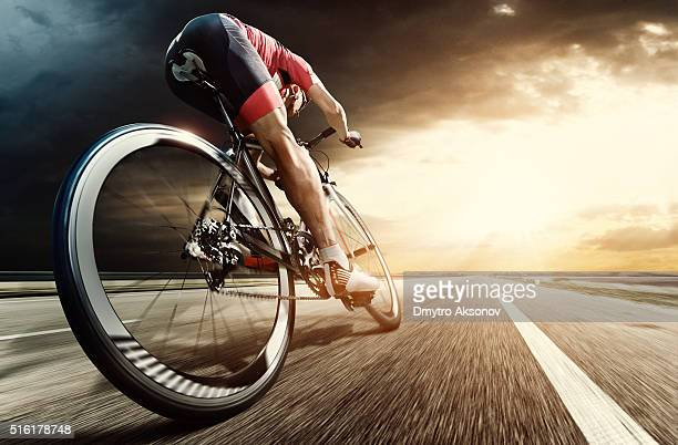 professional road cyclist - athletics stock photos and pictures