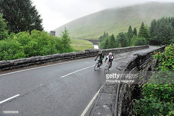Professional road racing cyclist Rob Partridge riding through Caerphilly on July 8, 2011 in Wales.