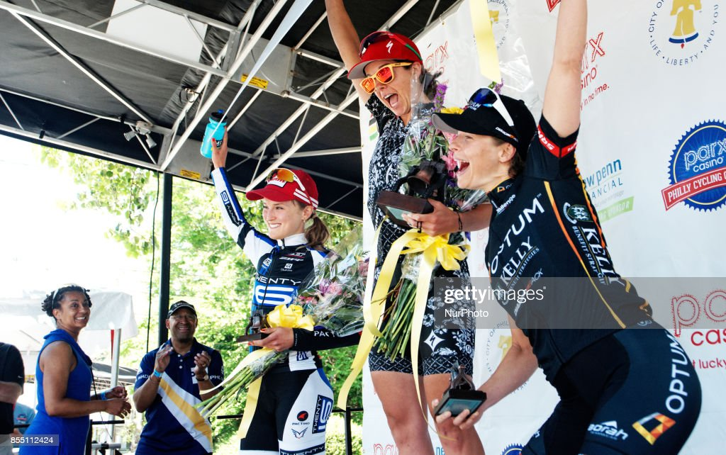 Professional road racing is returning to Philadelphia after a one-year hiatus. The UCI 1.1 Independence Classic is scheduled for June 3, 2018 in Philadelphia, PA, as officially announced in September 2017. In this June 1, 2014 file photo Evelyn Stevens is seen celebrating on the podium after winning the 2014 Part Casino Cycling Classic in Philadelphia, PA.