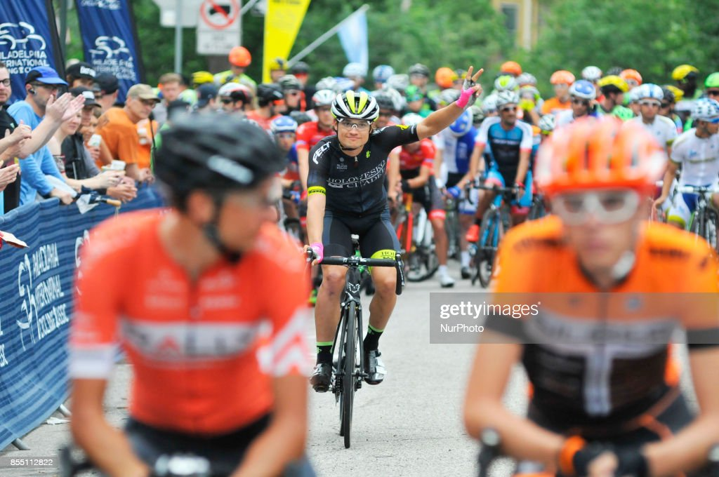 Professional road racing is returning to Philadelphia after a one-year hiatus. The UCI 1.1 Independence Classic is scheduled for June 3, 2018 in Philadelphia, PA, as officially announced in September 2017. In this June 5, 2016 file photo local pro-cyclist and favorite Robin Carpenter of team Holowesko/Citadel waves during the rider presentation at the start of the 2016 Philadelphia Cycling Classic. Pro-cyclist compete at a 73.8miles/118.7km course for the UCI Women's World Tour and 110.7miles/178.2km for the UCI 1.1 Men's America Tour during the 'Manayunk Wall' Philly Bike Race.