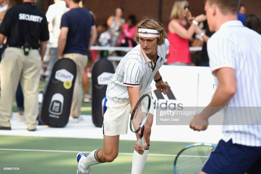 Professional Sascha Zverev Participates During Adidas Tennis