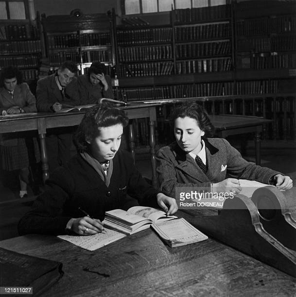 Professional School Of Young Girls Revisions In Paris 1943