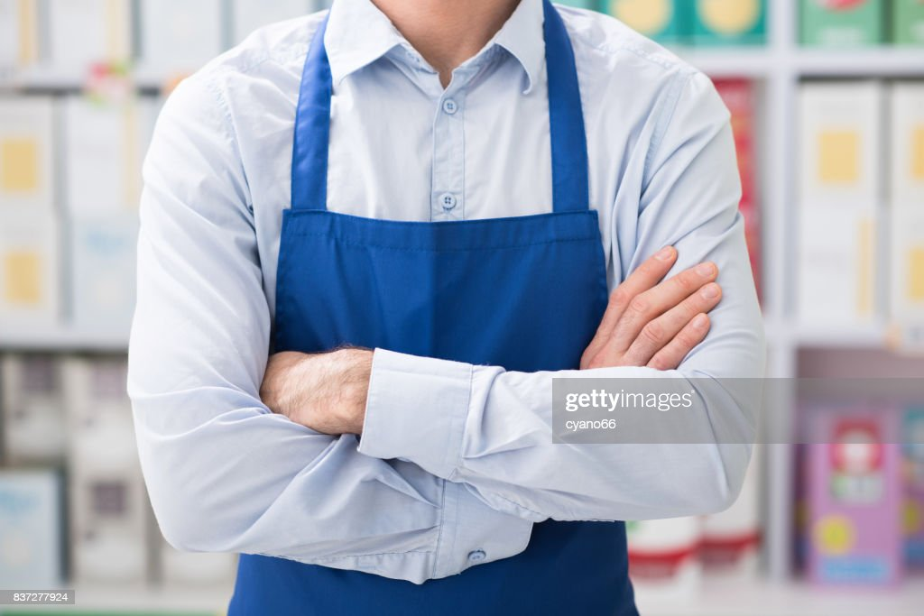 Professional shop assistant : Stock Photo