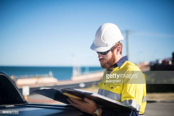 Professional Site Manager working outdoors