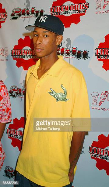 Professional skateboarder Anthony Mosely arrives at the XGames afterparty at the Garden Of Eden nightclub on August 5 2005 in Hollywood California