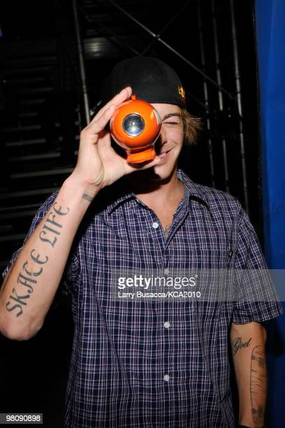 COVERAGE** Professional skateboarder Ryan Sheckler backstage at Nickelodeon's 23rd Annual Kids' Choice Awards held at UCLA's Pauley Pavilion on March...