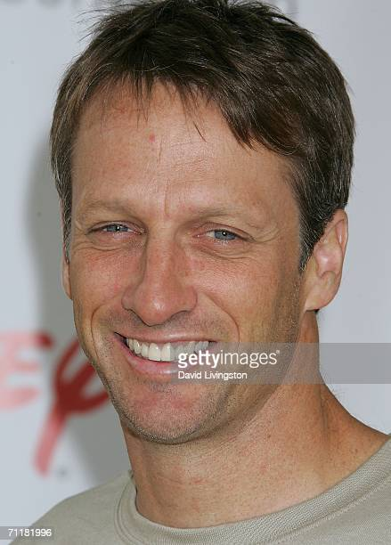 Professional skateboarder Tony Hawk attends A Time for Heroes Celebrity Carnival sponsored by Disney to benefit the Elizabeth Glaser Pediatric AIDS...