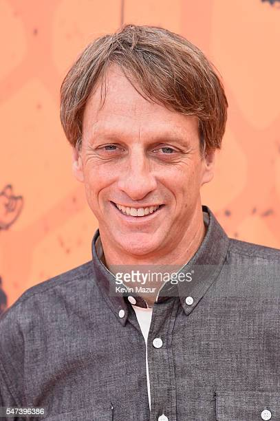 Professional skateboarder Tony Hawk attends the Nickelodeon Kids' Choice Sports Awards 2016 at UCLA's Pauley Pavilion on July 14 2016 in Westwood...