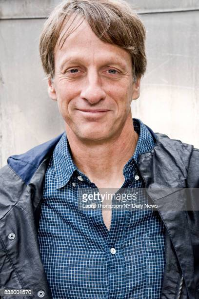 Professional skateboarder Tony Hawk photographed for NY Daily News on April 27 2017 in New York City