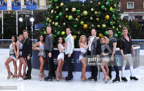 Professional Skaters attend a photocall for the new series of Dancing On Ice at Natural History Museum Ice Rink on December 18 2018 in London England