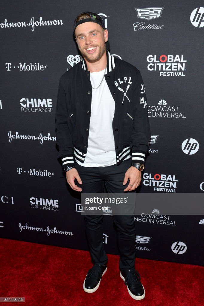 Professional Skier Gus Kenworthy poses in the VIP Lounge during the 2017 Global Citizen Festival in Central Park on September 23, 2017 in New York City.