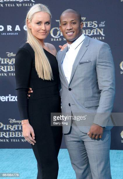 Professional skier Lindsey Vonn and Kenan Smith attend premeire of Disney's 'Pirates Of The Caribbean Dead Men Tell No Tales' at Dolby Theatre on May...