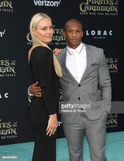 Professional skiier Lindsey Vonn and Kenan Smith attend the premiere of Disney's Pirates Of The Caribbean Dead Men Tell No Tales at Dolby Theatre on...