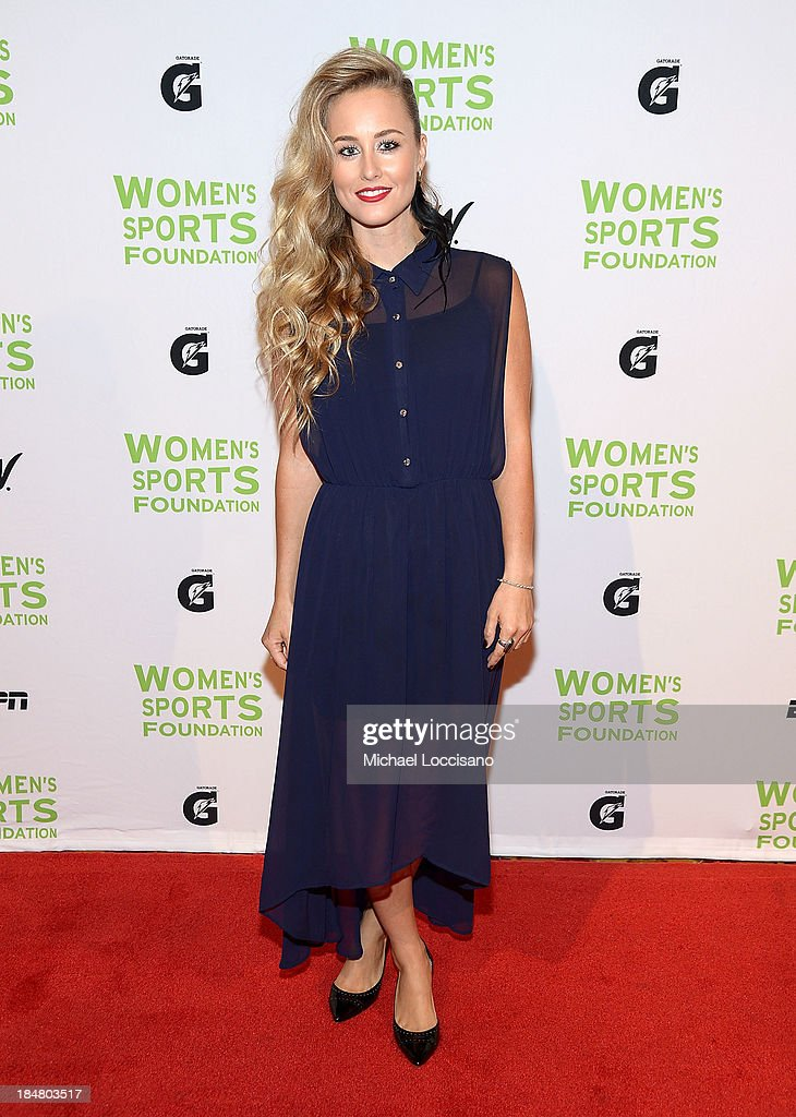 Professional Snowboarder Chanelle Sladics attends the 34th annual Salute to Women In Sports Awards at Cipriani, Wall Street on October 16, 2013 in New York City.