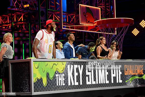 Professional snowboarder Jamie Anderson NBA player Andre Drummond jockey Victor Espinoza host Russell Wilson NFL player Emmanuel Sanders and...