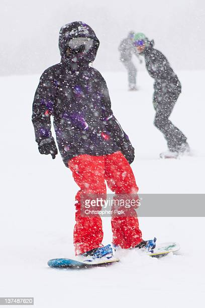 Professional snowboarder Kimmy Fasani at the Burton Lounge at Park City Mountain Resort on January 21 2012 in Park City Utah