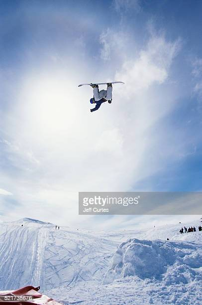 Professional Snowboarder Kjersti Buass in Mid-Air