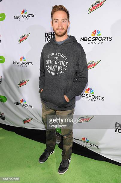 Professional Snowboarder Scotty Lago walks the green carpet at the Dew Tour Brooklyn Mountain Dew Kickoff Party on Thursday Sept 18th at the House of...