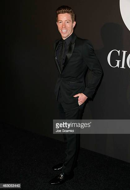 Professional snowboarder Shaun White attends GQ and Giorgio Armani Grammys After Party at Hollywood Athletic Club on February 8 2015 in Hollywood...