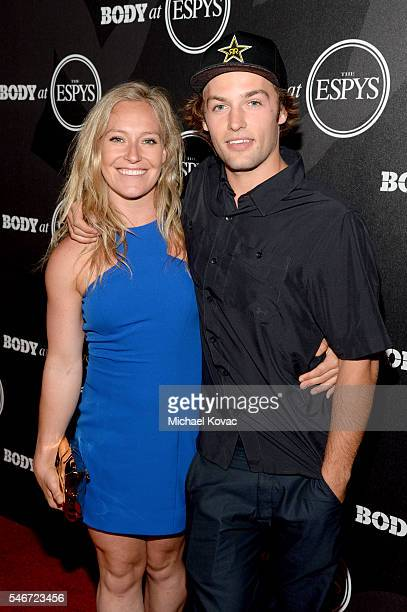 Professional snowboarders Jamie Anderson and Tyler Nicholson at the BODY at ESPYS Event on July 12th at Avalon Hollywood