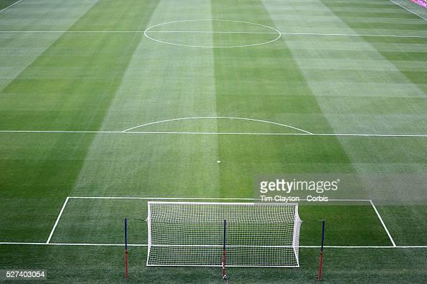 A professional soccer field