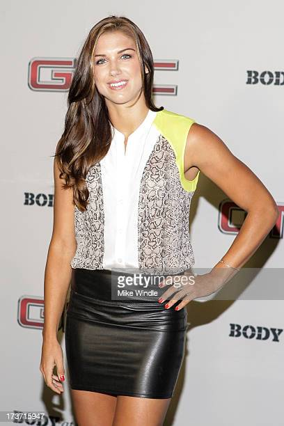 Professional soccer player Alex Morgan arrives at ESPN the Magazine's 'Body Issue' 5th annual ESPY's event at Lure on July 16 2013 in Hollywood...